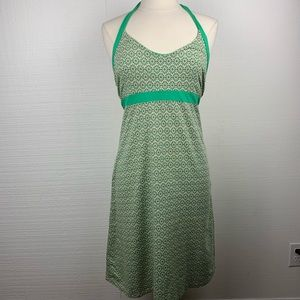 Patagonia Green Print Halter Travel Outdoor Dress